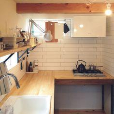 造作キッチン/タイル貼り…などのインテリア実例 - 2015-07-17 19:22:58