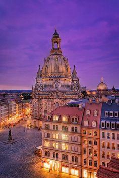 Вечерний Дрезден в Германии