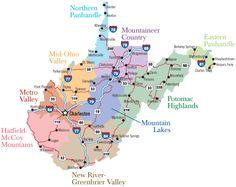 West Virginia Regions I'm from Clendenin, 20 miles north of Charleston.  Metro Valley area