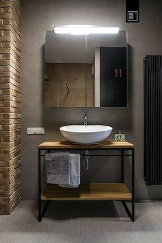 Bathroom Design Small, Bathroom Interior Design, Small Toilet Room, Loft Interior, Creative Wall Decor, Home Design Floor Plans, Attic House, Structure Metal, Loft Design