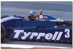 Michele Alboreto Tyrrell Ford 011 F1. 1982 British GP Brands Hatch