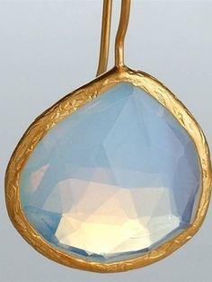 Opalite Quartz earrings. Love!
