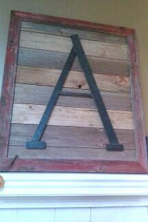 reclaimed Barn wood Wall art customize it with your by AlstromRust, $500.00
