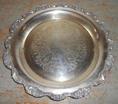 Vintage Tray International Silver Company  Platter by TheBackShak