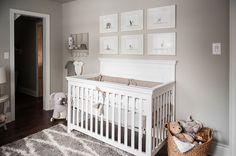 A neutral safari nursery in a vintage home accented with the sweetest safari details and textures.