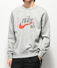 0b4b366e Top Icon, Grey Nikes, Nike Sweatshirts, Nike Sb, Crew Neck Sweatshirt,