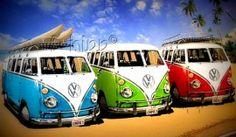 full color strijkapplicatie 3 VW's op een rij | Full Color Strijkapplicaties jongens | B-hipp