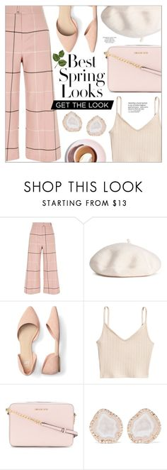 """""""pink overload!"""" by mafaldamf ❤ liked on Polyvore featuring River Island, H&M, MICHAEL Michael Kors, Kimberly McDonald, Topshop and Pink"""