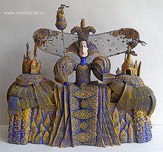 "Regina (series ""Kingdom""), ed.ekz., 50cm., Mixed media Menina Art"