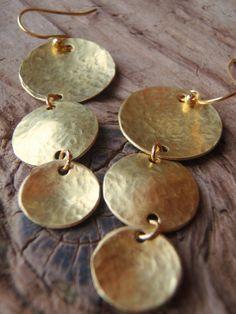 arcoris handcrated brass earrings