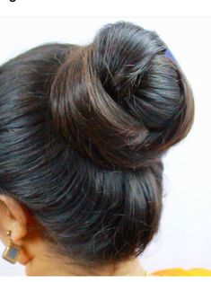 Image may contain: one or more people and closeup Bun Hairstyles For Long Hair, Braids For Long Hair, Braided Hairstyles, Braid Hair, Updo Hairstyle, Beautiful Buns, Beautiful Long Hair, Amazing Hair, Indian Long Hair Braid
