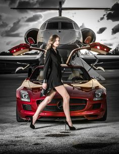 Supercar & Private Jet = Luxury Lifestyle