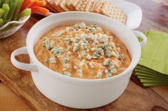 No-Cook Buffalo Chicken Dip #recipe