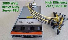 Power Supply for Two (x2) Antminer S9 / S7 / L3+ with Ready To Plug Harness