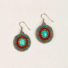 Fair Trade Stone Cabochon Earrings **Altiplano #FairTuesday Beautiful pop of color!