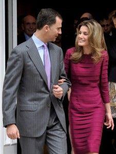Prince of Asturias Felipe de Borbon & wife Princess of Asturias, Letizia Ortiz