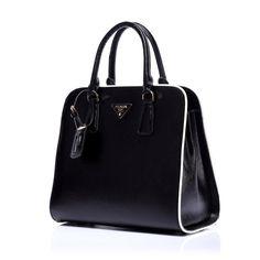 saffiano prada bags a w prada saffiano tote in black red leather online  store Price   194.00 97b7356ab4f54