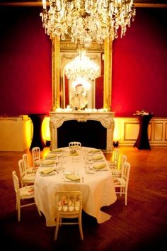 Cute kids wedding table and room