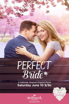 """When Calls the Heart's Pascale Hutton and Kavan Smith star in """"The Perfect Bride."""" Enjoy four new original movies celebrating June Weddings on Hallmark Channel, Saturday nights 9/8c.  #hearties #JuneWeddings #HallmarkChannel"""