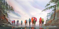 """Beach Walkers"" - by John Ebner"