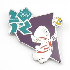 Price: $9.99 - 2012 Olympics Mascot Volleyball Pin - TO ORDER, CLICK THE PHOTO