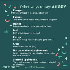Synonyms to the word ANGRY. Other ways to say ANGRY. Синонимы к английскому слову ANGRY.