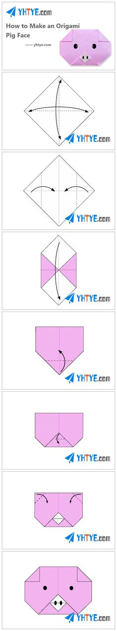 How to Make an Origami Pig Face