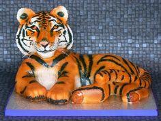 Tiger  Cake by gardnercakes