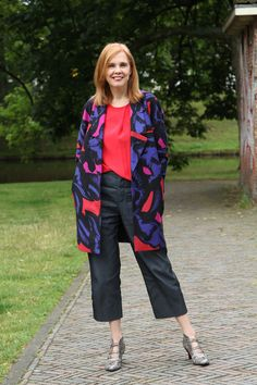 A colorful coat for winter | 40plusstyle.com