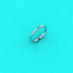 18K white gold Wedding band by Masterjeweler on Etsy