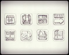app store sketch full1 Beautiful Brainstorming: 25 Inspirational Icon Sketches