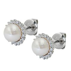 Best Makeup Products, Studs, Pearl Earrings, Accessories, Beautiful, Jewelry, White Gold, Amazon, Plugs