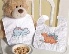 Cute-A-Sarus Bib Kits   - Cute Needlework nursery room theme ideas and gifts - Bucilla Baby Needlecraft Kits #needlework #crafting #bucilla #plaidcrafts #baby
