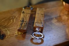 These bottle openers are made from beautiful reclaimed bourbon barrel staves from Makers Mark.