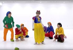 """On October 27, BTS uploaded their dance practice video for their track """"Go Go"""" wearing their Halloween costume."""