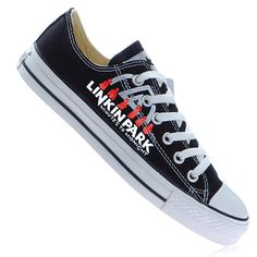 a10fb1bf34c4 Hand Painted Linkin Park Low Top Sneakers Low-top Painted Canvas