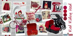 """Moodboard """"Red Riding Hood"""" de @mamisybebes para #quieroserembajador #atodocolor #bugabooespana @BugabooES @Madresfera"""