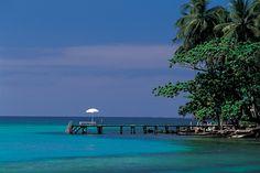 A tropical island destination