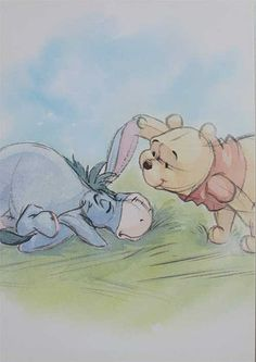 Winnie The Pooh And Eeyor my two favorites from Winnie The Pooh