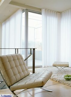 How far from the window should ceiling curtain track be? A guide to where to fit ceiling track so your curtains operate properly. Ceiling Curtain Track, Ceiling Curtains, Curtains And Draperies, Curtain Room, Wave Curtains, Ceiling Design, Lounge, Interior Design, Window Treatments