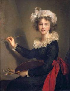 Elisabeth Louise Veggee Le Brun 'L'Artiste exécutant un portrait de la reine Marie-Antoinette', 1790