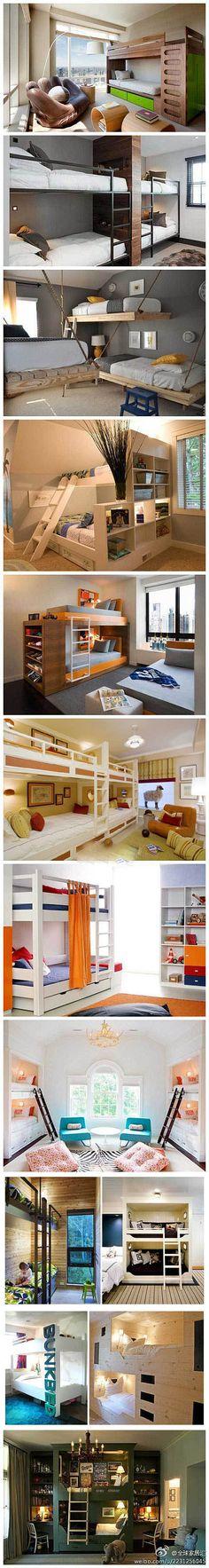 Buena variedad en el diseño de la cama litera, como el cierre