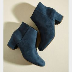 d2fc75df9531 Scholar of Color Bootie. Using the lake blue hue of these minimalist ankle  boots as the base tone for your ensemble turns the palette of your look  into a ...