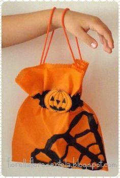 Una bolsa dulcera para halloween