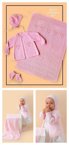 Knit a complete baby layette for the newborn in your life with the Baby Layette Set Free Knitting Pattern. This is an excellent gift idea for any little baby. Knit Baby Booties Pattern Free, Baby Knitting Patterns Free Newborn, Layette Pattern, Baby Patterns, Free Knitting, Crochet Baby Sweaters, Baby Layette, Reborn Dolls, Reborn Babies