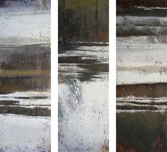 Winter Trio/ Jeannie Sellmer / (oil, 36 x 36 inches triptych)