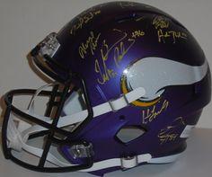 2015 Minnesota Vikings Team Autographed Riddell Full Size Deluxe Replica Speed Style Football Helmet, Proof