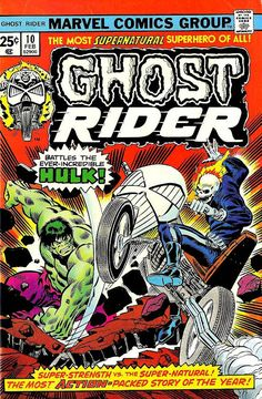 Ghost Rider #10 (Feb '75) cover by Ron Wilson & Joe Sinnott.