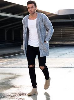 Men's Fall Winter Fashion - Get inspired by our trend ideas - mode homme - Fashion Mode, Look Fashion, Winter Fashion, Fashion Outfits, Cardigan Outfits, Casual Outfits, Man Cardigan, Casual Dresses, Kohls Dresses