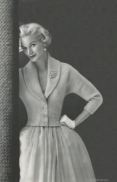 ELEGANT EVENING Jacket Knitting Pattern Vintage 1950s - Stunning / 5 Womens Sizes. $4.65, via Etsy.